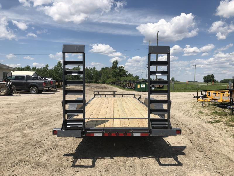 Load Trail 20ft 14K Equipment Trailer W/Rub Rail Gray