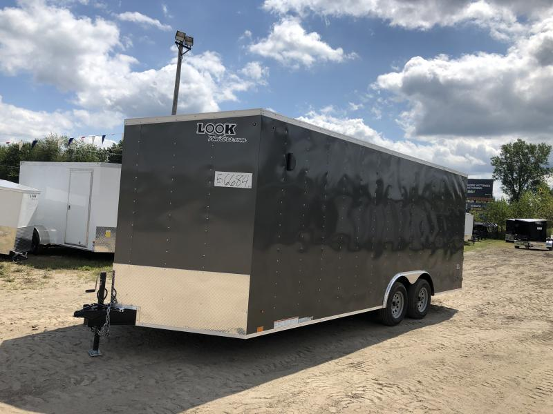 Look Trailers 8.5x20 7k Charcoal Enclosed Car Hauler w/ 7ft Interior Height