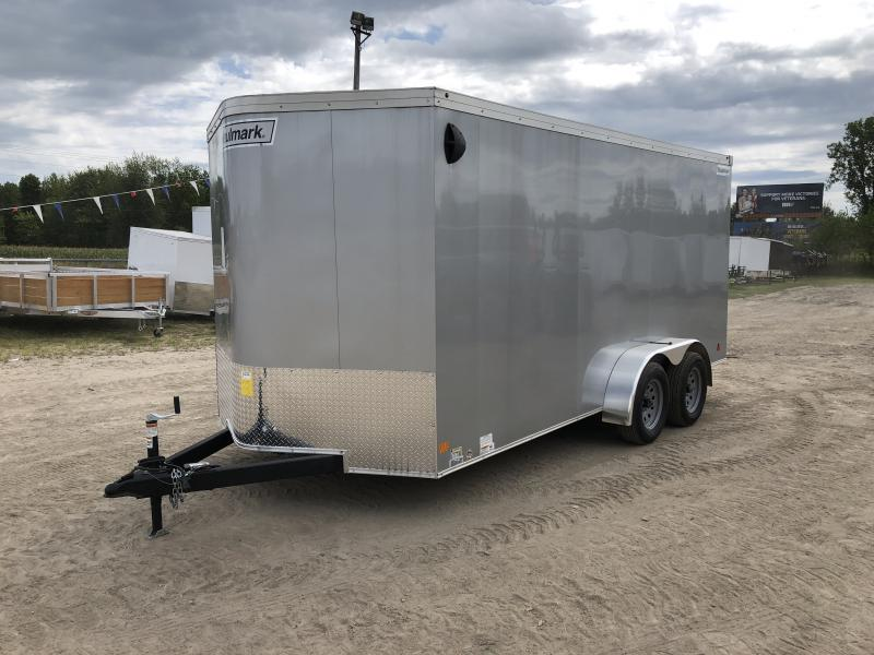 Haulmark Transport V-Nose Ramp Door Enclosed Trailer Silver 6ft 6in Interior