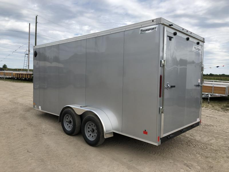 Haulmark Transport V-Nose Ramp Door Enclosed Trailer Silver 6ft 6in Interior