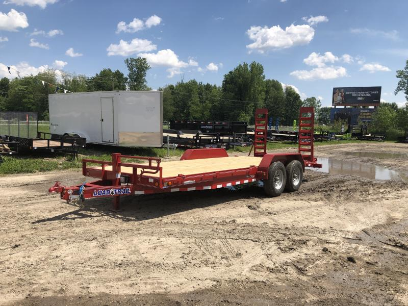 Load Trail 20ft 14K Equipment Trailer W/Rub Rail Red
