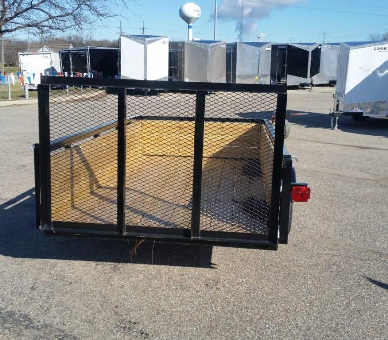 5 x 10  AMO Landscape Light Duty Wood Side Trailer Utility Trailer