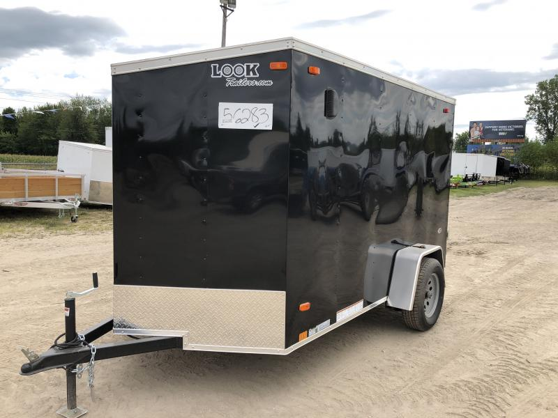 Look Trailers 6X10 V-Nose Ramp Door Enclosed Trailer Black
