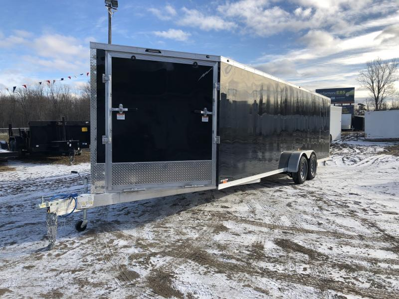 NEW 7X29 4 PLACE ENCLOSED SNOWMOBILE TRAILER