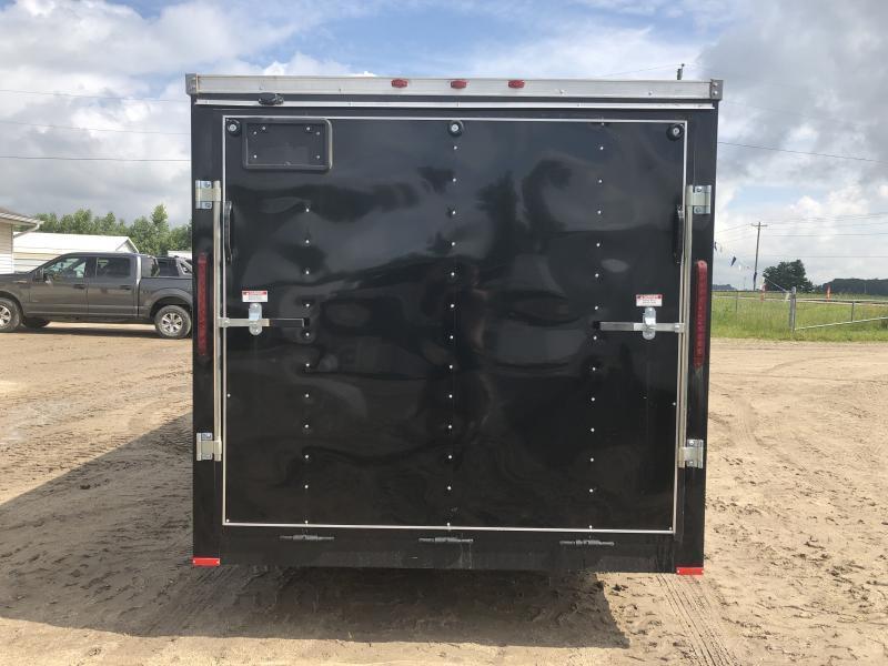 USA 7X16 V-Nose Ramp Door Enclosed Cargo Trailer Black