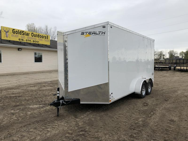 Stealth Trailers Mustang 7x16 UTV +12IN V-Nose Ramp Door Enclosed Cargo Trailer