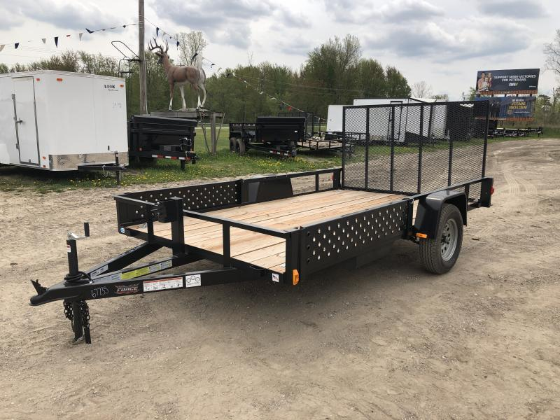 Force 6.5x12 Deluxe Utility Trailer W/ATV Pkg