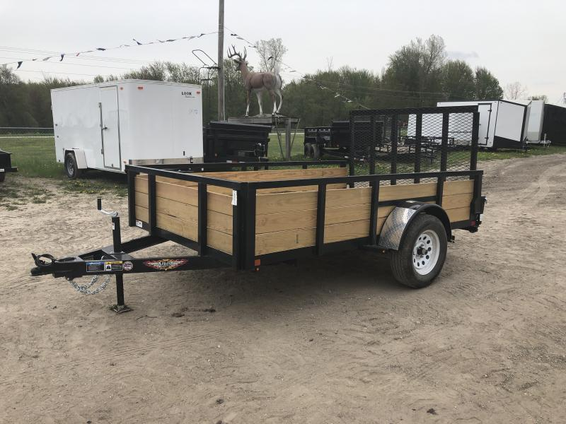 H&H 6x10 HD Woodsided Utility Trailer