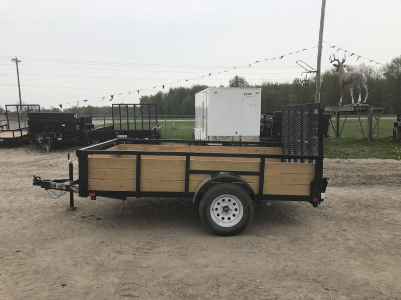 H and H 6x10 HD Woodsided Utility Trailer