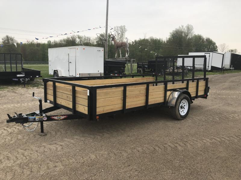 H&H 7x14 HD Woodsided Utility Trailer