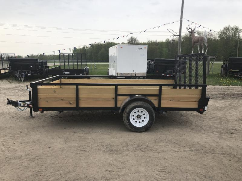 H&H 7x12 HD Woodsided Utility Trailer
