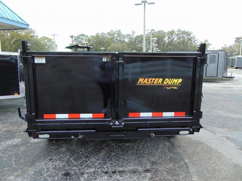 "2019 Doolittle Trailer 7x14 Scissor Lift Master Dump w/36"" Solid Sides"