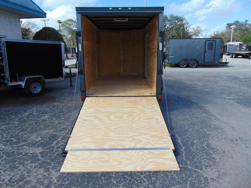 2019 Rock Solid Cargo 6X12 Enclosed Cargo Trailer w/Black Out Package