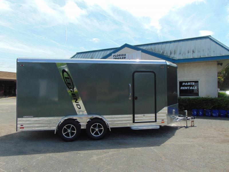 2019 Legend Manufacturing 7X19 Deluxe V-Nose All  Aluminum Enclosed Cargo Trailer