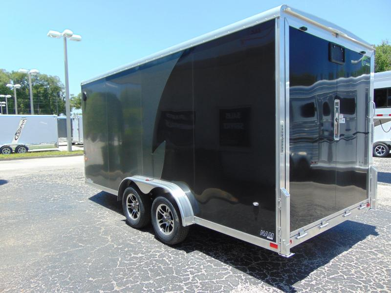 """2019 NEO Trailers 7.5X16 Aluminum Enclosed Cargo / Motorcycle Trailer 12"""" Addtl Height"""