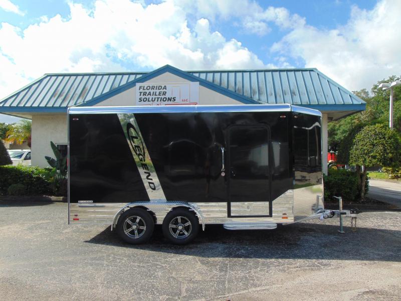 2019 Legend Manufacturing 7X17 Deluxe V-Nose All Aluminum Enclosed Cargo Trailer