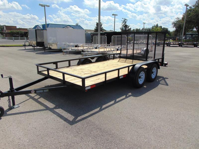 2018 Worldwide Trailer 7X14 Tandem Axle Utility Trailer