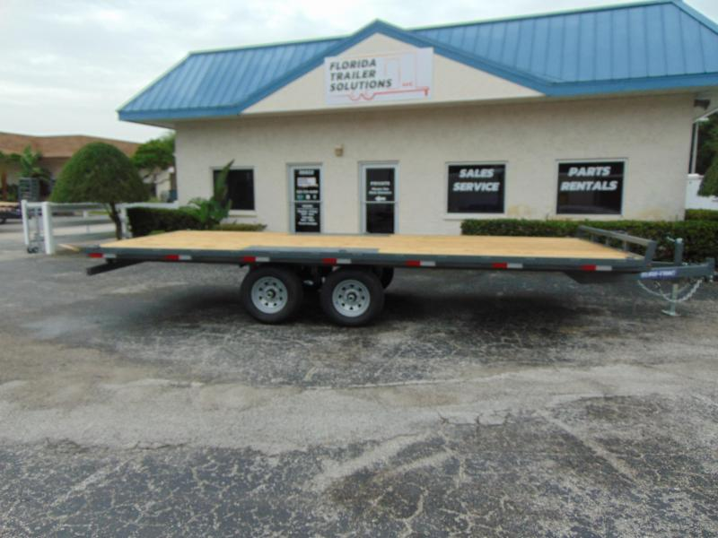 2019 Sure-Trac 8.5X20 10k Flatbed Deckover Equipment Trailer