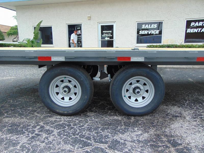 New Sure-Trac 8.5X20 10k Flatbed Deckover Equipment Trailer