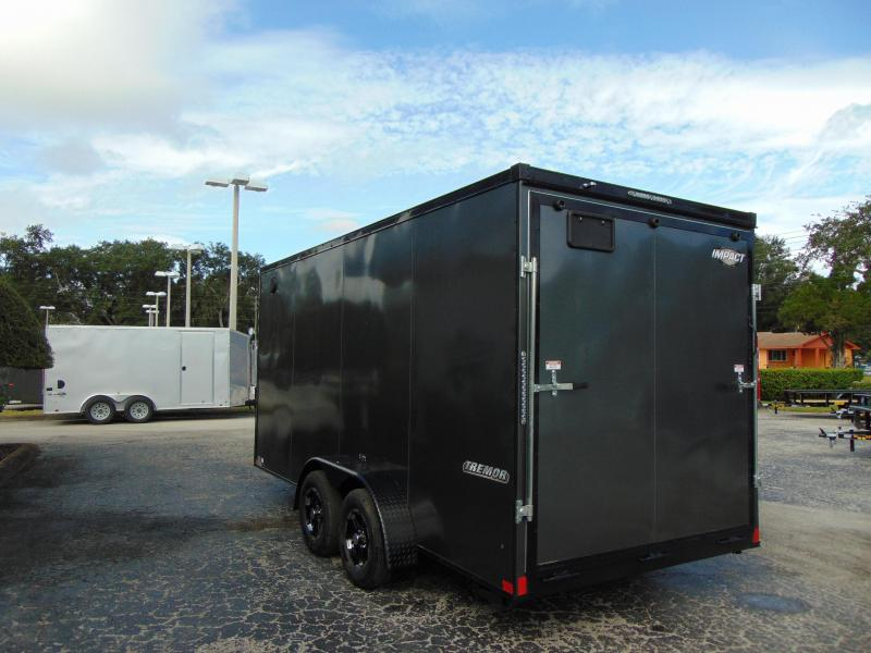 2019 Impact Trailers 7X16 Enclosed Cargo Trailer w/12
