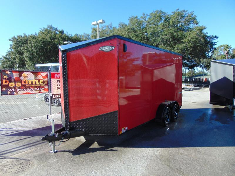 2019 Impact Trailers 7X16 Enclosed Cargo Trailer w/12 in Ashburn, VA