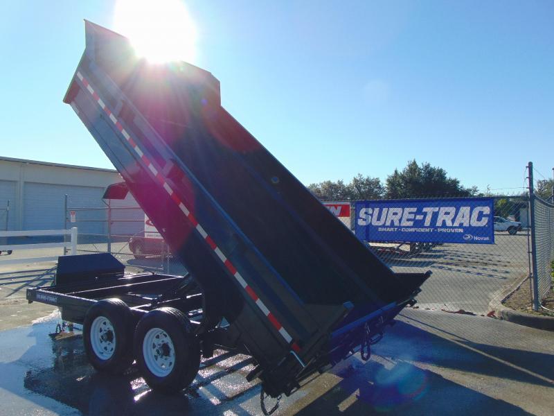 2019 Sure-Trac 82X14 Low Profile Scissor Lift 14K Dump Trailer