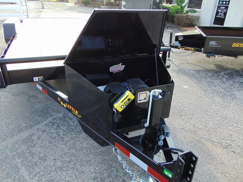 New Doolittle Trailer Mfg 84X20 EZ Loader Full Power Tilt Equipment Trailer