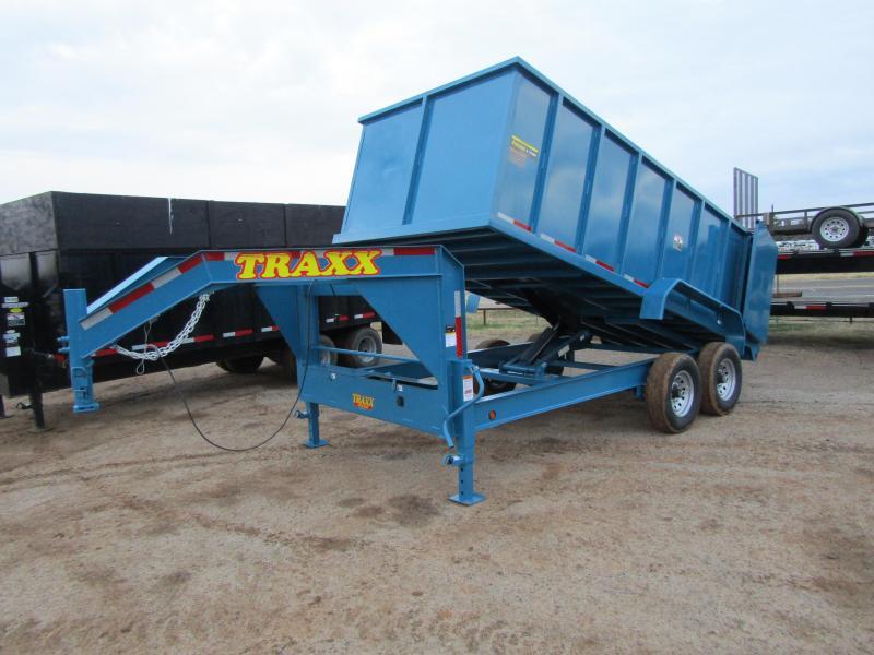 2019 Traxx Trailers 16 Gooseneck Dump Trailer Dump Trailer