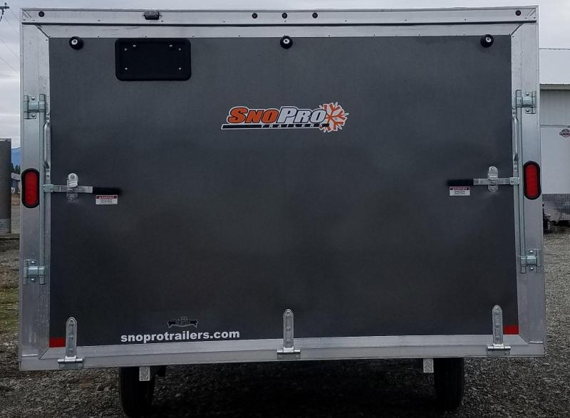 2018 Snopro 101x12Hybrid Snowmobile Trailer