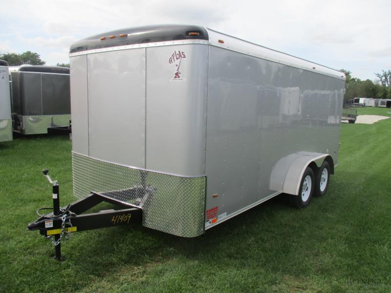 2019 Atlas 7x16'  Enclosed Cargo AU716TA2
