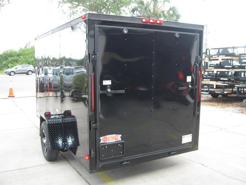 6x12 V-Front Blackout Enclosed Cargo Trailer