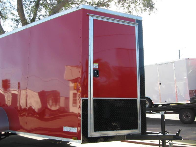 6x12 Trailer V-Front RED