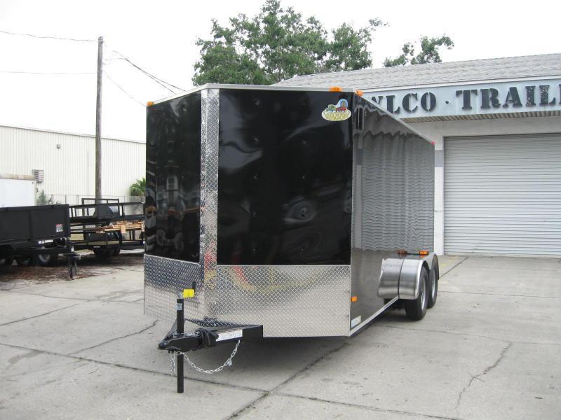 7x16 Trailer Enclosed Cargo