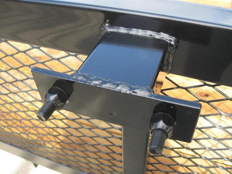 7x16 HD Tube Top Utility Trailer 2\' Mesh Sides   Brevard Utility ...