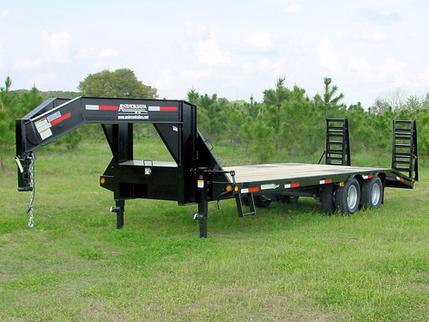 8.5x25 Gooseneck Equipment Trailer Anderson G82510TW in Ashburn, VA