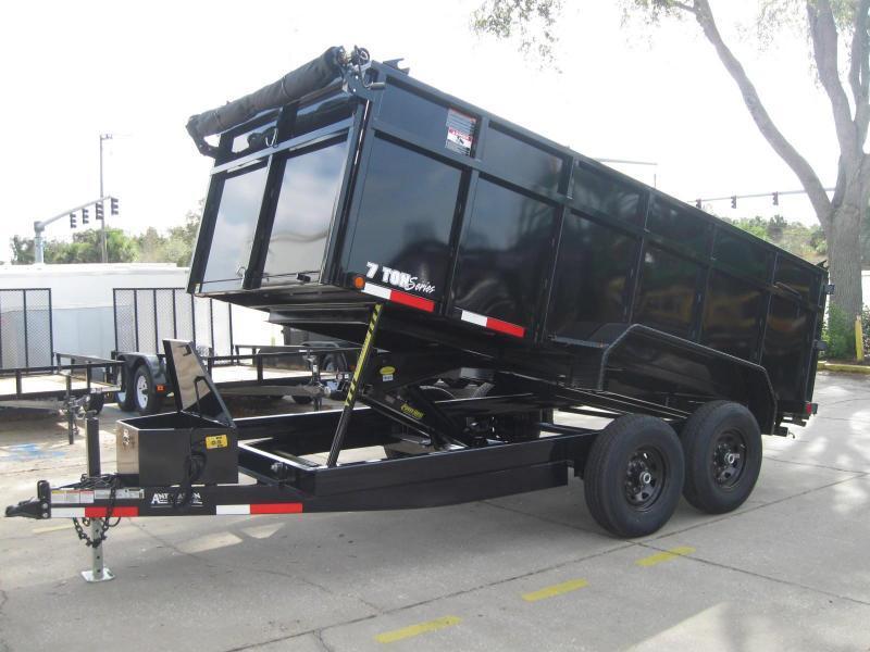 7x14 Dump Trailer 4' SIDES HD 14K / 7 Ton | Brevard Utility Trailer Malco Dump Trailer Wiring Harness on