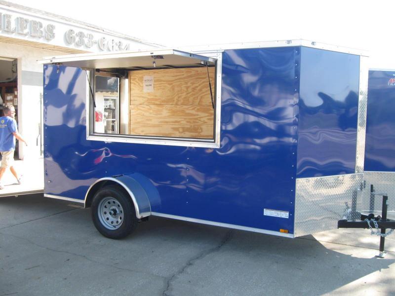 6X12 V-Front Enclosed Concession Vending Trailer in Ashburn, VA