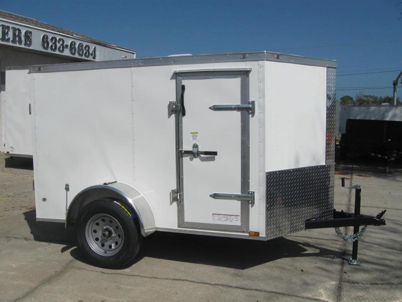 5x8 Barn Doors V-Nose Enclosed Cargo Trailer in Ashburn, VA
