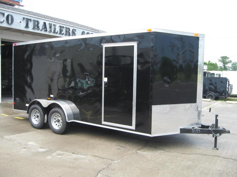 "7x16 Trailer V-Nose Enclosed Cargo Trailer 6' 6"" TALL"