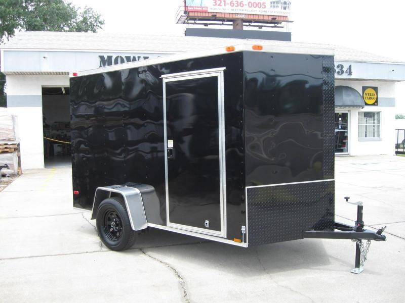 6X10 V-Front Enclosed Cargo Trailer