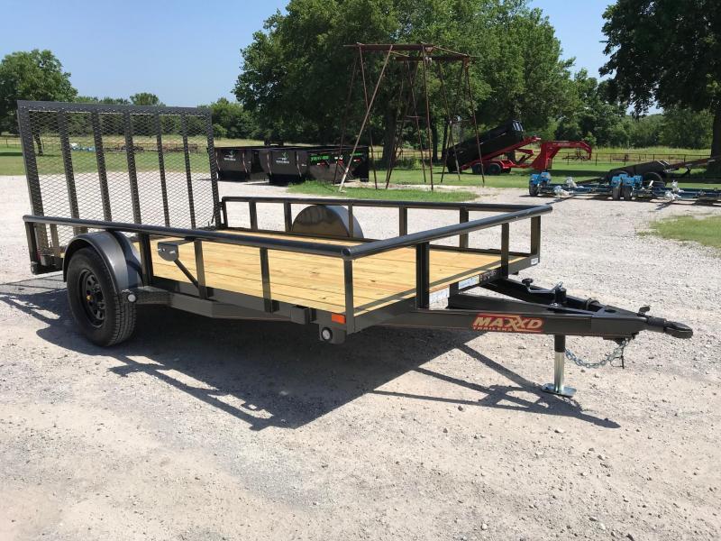 2019 MAXXD 12ft x 6.5ft Single Axle Pipetop Utility