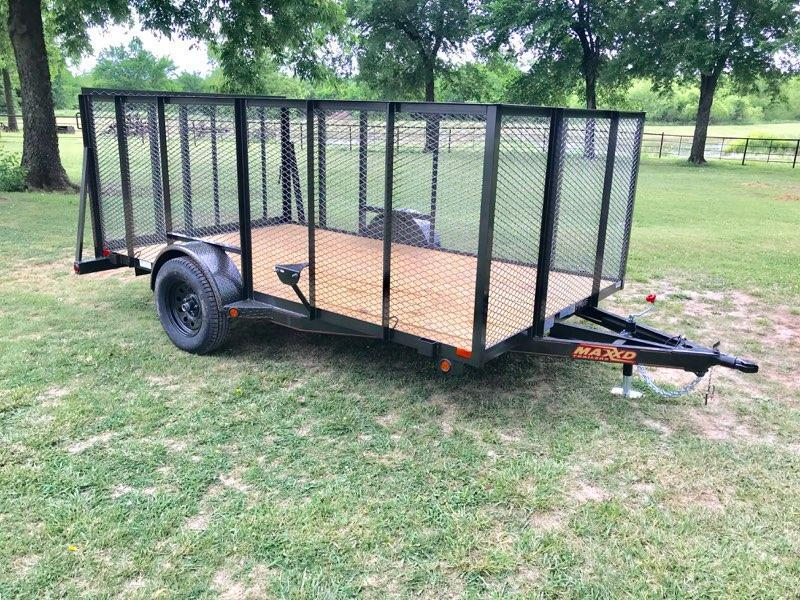 "2018 MAXXD 12' x 83"" Single Axle Landscape Trailer"