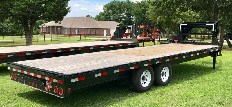 2018 Pre-Owned PJ Trailers 25' Flatbed w/ Singles Straight Deck