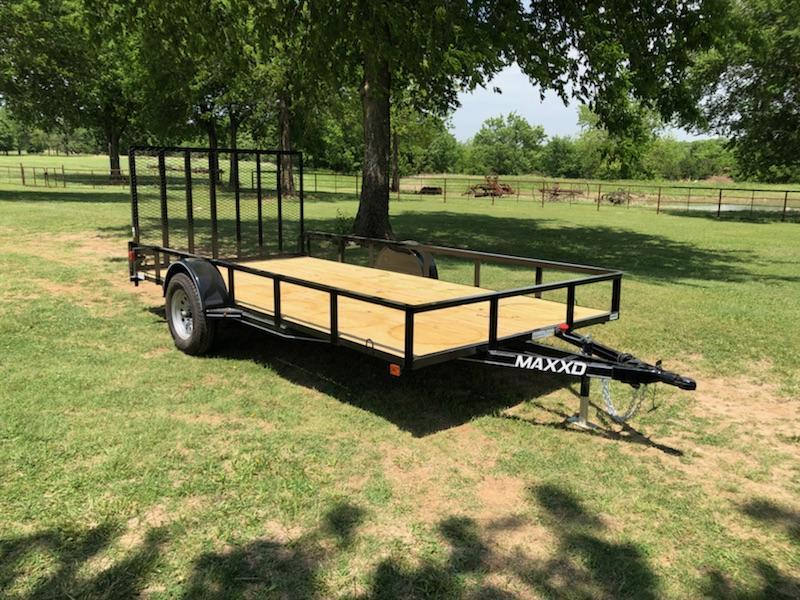 "2018 MAXXD 14' x 83"" Single Axle Utility Trailer White Series"