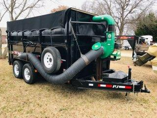 2017 PJ Trailers Low Pro High Side Dump W/ Leaf Vac