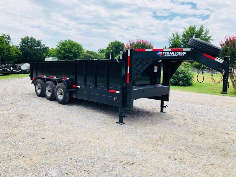 2017 Texas Pride 20' x 7'  Triple Axle Dump Trailer 24K GVWR