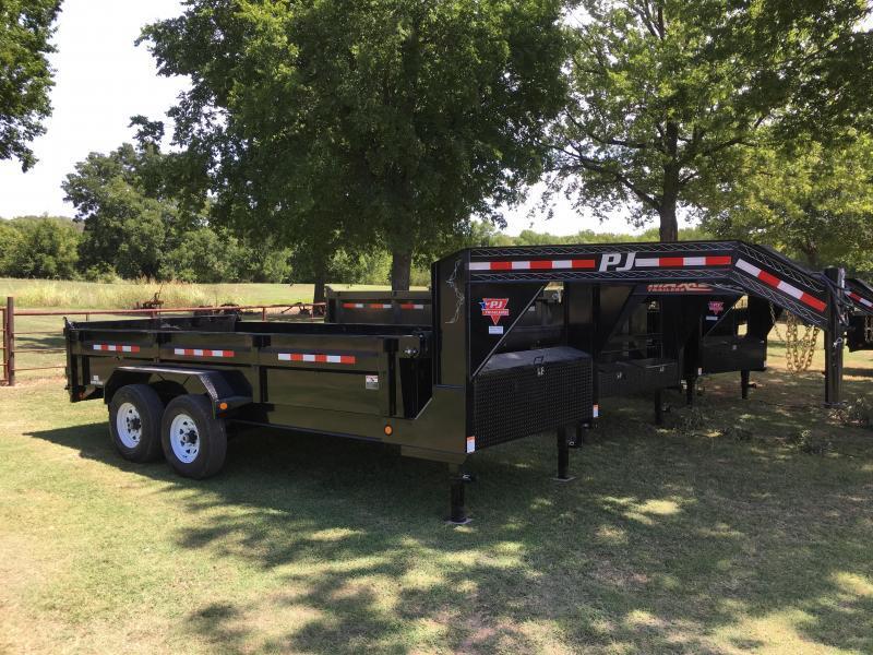 2019 PJ Gooseneck 16' x 7' XL I-Beam Dump