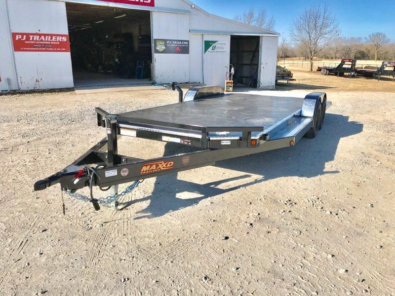 "2019 MAXXD 20' x 83"" Tubing Car Hauler w/ Split Tail 7K"