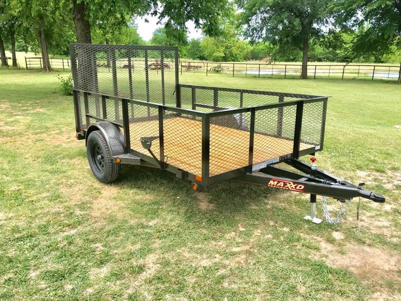 "2018 MAXXD 10' x 77"" Single Axle Landscape Trailer"