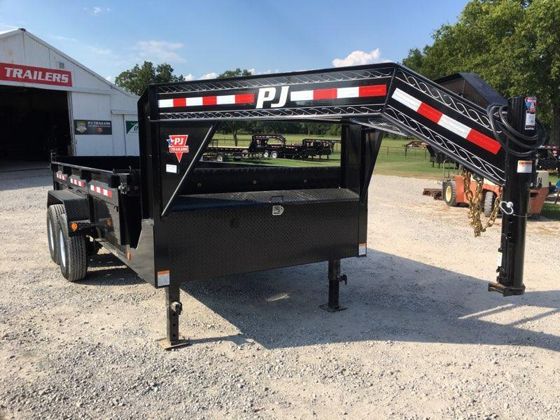 2019 PJ Trailers Gooseneck 14' x 7' Low Pro Dump Trailer